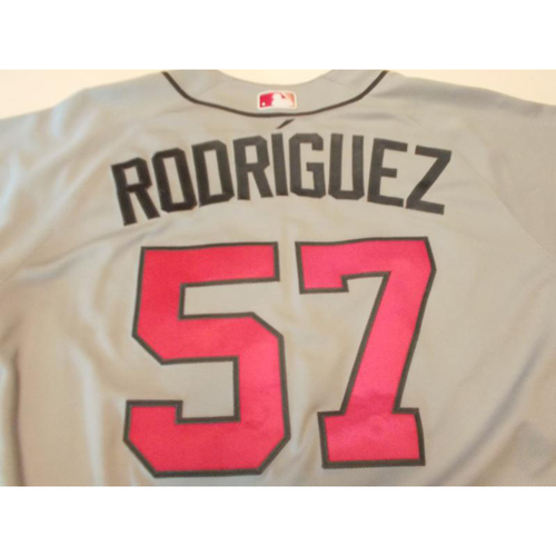 Photo of Game-Used Francisco Rodriguez Mother's Day Jersey