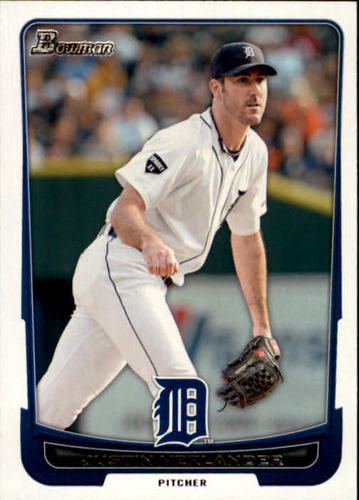 Photo of 2012 Bowman #77 Justin Verlander -- Astros post-season