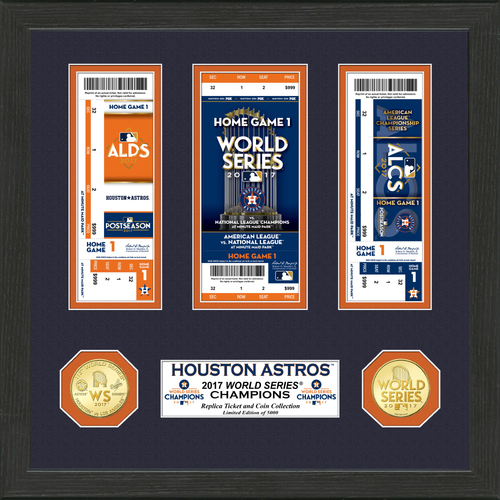 "Photo of Houston Astros 2017 AL Champions ""Road to the World Series"" Ticket Collection"