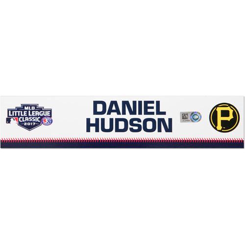 Photo of Pittsburgh Pirates Game-Used Locker Name Plate, Daniel Hudson #41