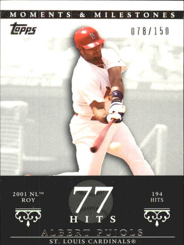 Photo of 2007 Topps Moments and Milestones #3-77 Albert Pujols/Hit 77