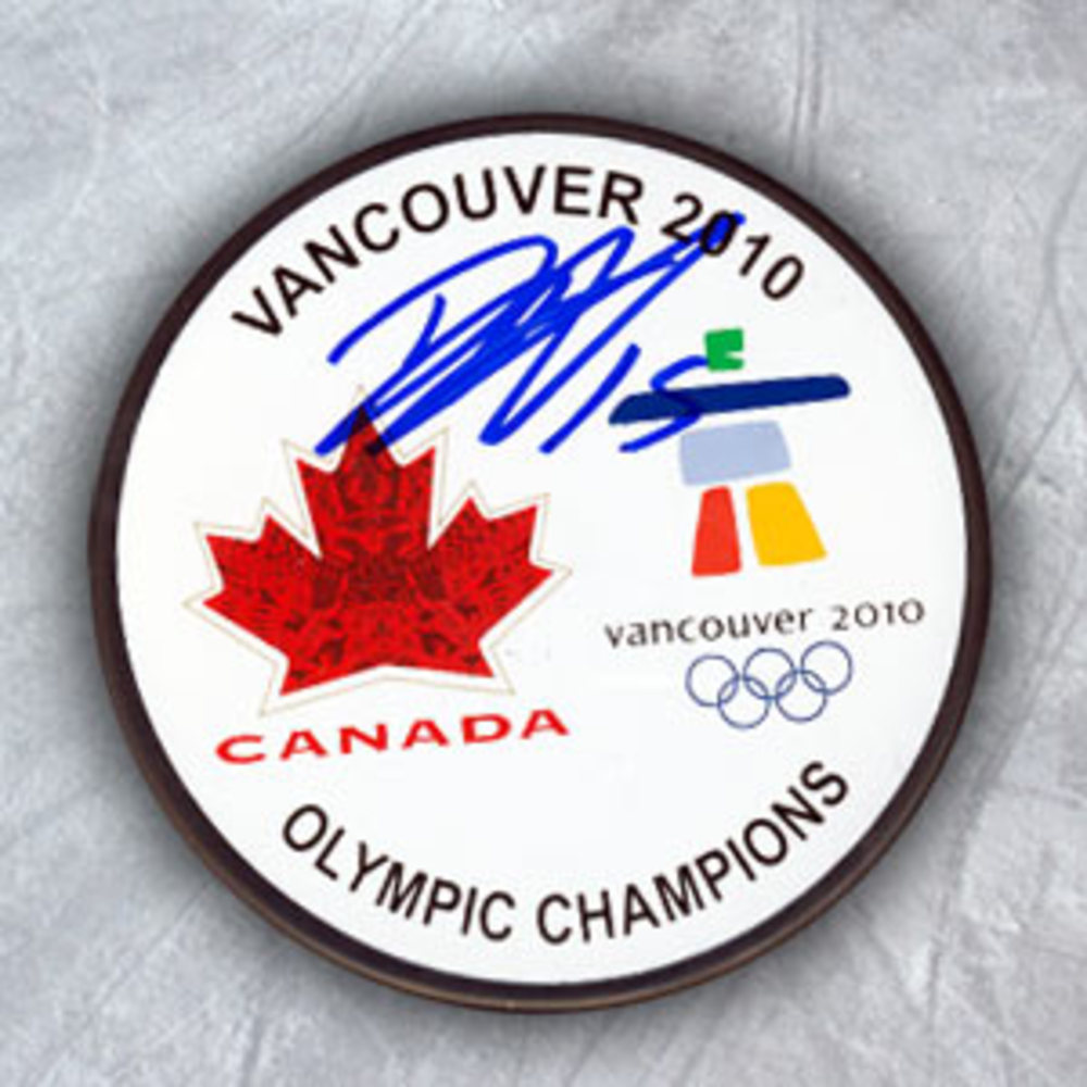 Dany Heatley Team Canada Autographed Olympic Gold Medal Puck