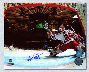 Mike Richter New York Rangers Signed Madison Square Garden Net Cam 8x10 Photo