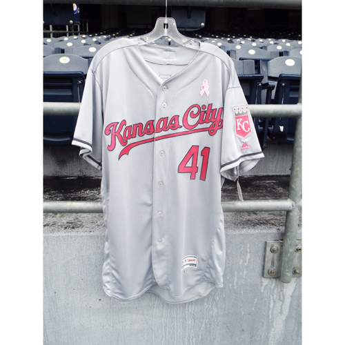 Photo of Danny Duffy Game-Used Mother's Day Jersey (Size 46)