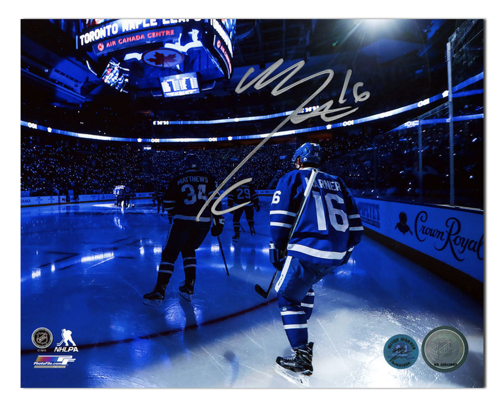 Mitch Marner Toronto Maple Leafs Signed Rookie Opening Night Intro 8x10 Photo