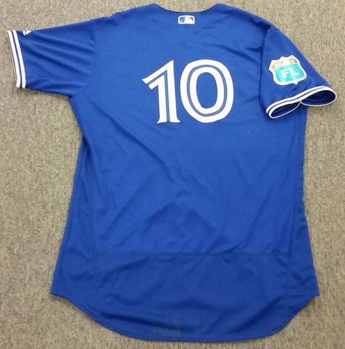 Photo of Authenticated Team Issued 2016 Spring Training Jersey - Edwin Encarnacion