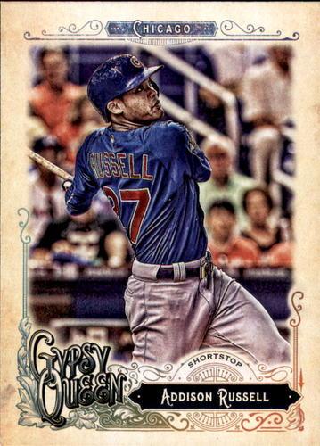 Photo of 2017 Topps Gypsy Queen #257 Addison Russell Cubs post-season