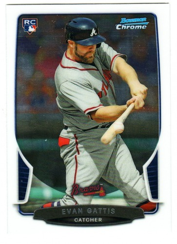 Photo of 2013 Bowman Chrome #209 Evan Gattis Rookie Card  -- Astros post-season