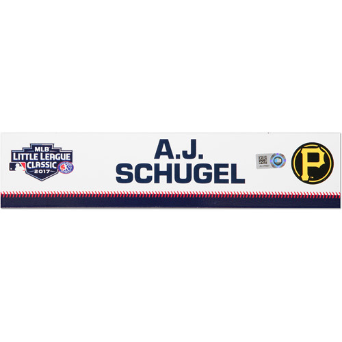 Photo of Pittsburgh Pirates Game-Used Locker Name Plate, A.J. Schugel #31