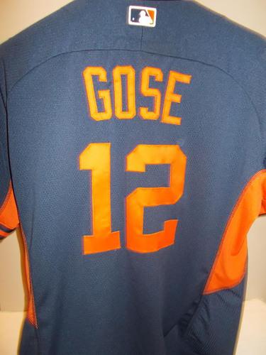 Photo of Game-Used Anthony Gose Road Batting Practice Jersey