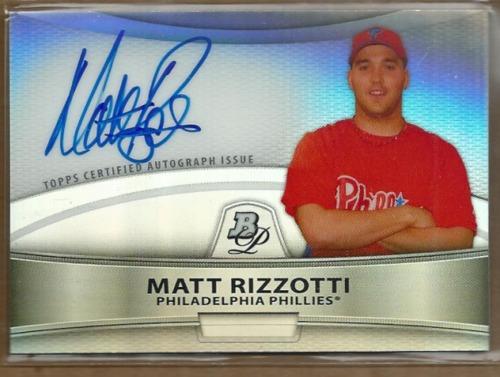 Photo of 2010 Bowman Platinum Prospect Autographs Refractors #MR Matt Rizzotti