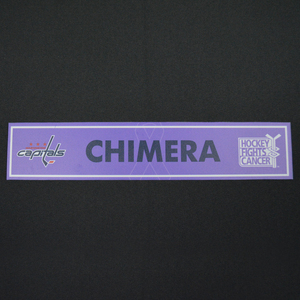 Jason Chimera - Washington Capitals - 2015-16 Hockey Fights Cancer Locker Room Nameplate