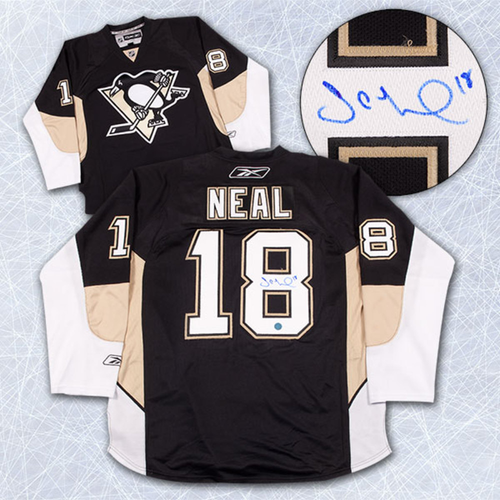 JAMES NEAL Pittsburgh Penguins SIGNED NHL Premier Hockey Jersey