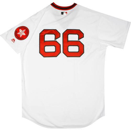 Photo of Boston Red Sox 1975 Throwback Complete Game-Used Uniform Set - Noe Ramirez