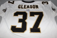 ALS - SAINTS STEVE GLEASON SIGNED SAINTS MITCHELL & NESS JERSEY - SIZE 52