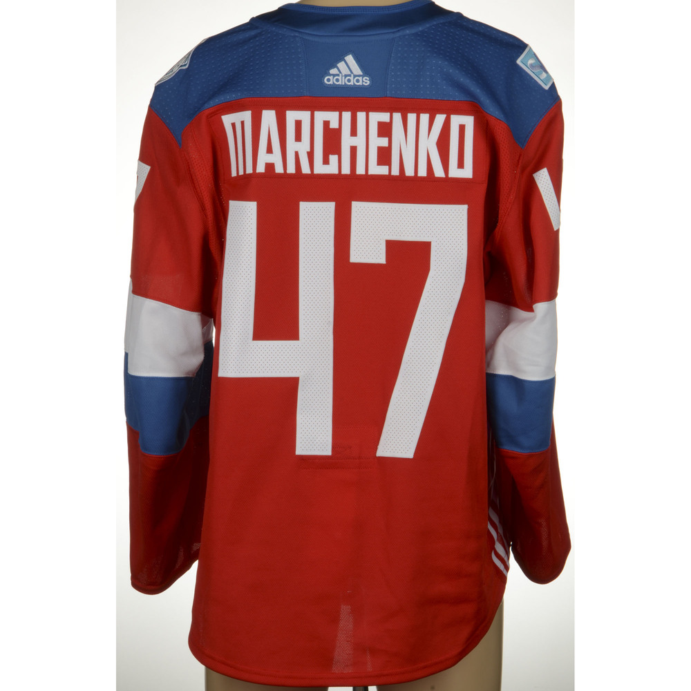 Alexey Marchenko Toronto Maple Leafs Game-Worn 2016 World Cup of Hockey Team Russia Jersey, Worn Against Team Finalnd On September 22nd