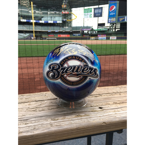 Photo of Support Hurricane Harvey Relief- Brewers Signed Bowling Ball & Game Tickets