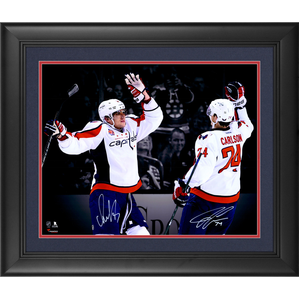 Alex Ovechkin & John Carlson Washington Capitals Framed Autographed 16