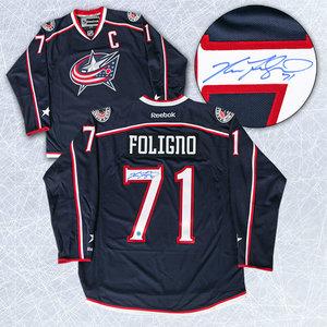 Nick Foligno Columbus Blue Jackets Autographed Reebok Premier Jersey