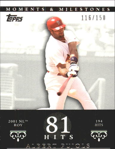 Photo of 2007 Topps Moments and Milestones #3-81 Albert Pujols/Hit 81