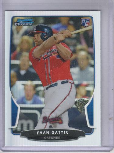 Photo of 2013 Bowman Chrome Draft Refractors #37 Evan Gattis -- Astros post-season