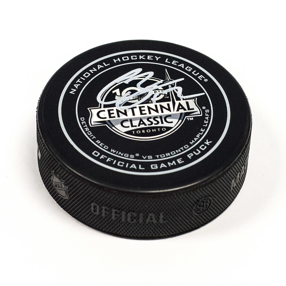 Connor Brown Toronto Maple Leafs Autographed 2017 Centennial Classic Game Puck