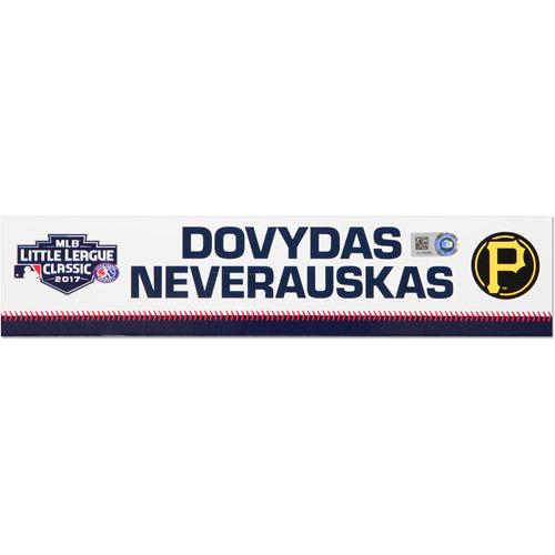 Photo of Pittsburgh Pirates Game-Used Locker Name Plate, Dovydas Neverauskas #66