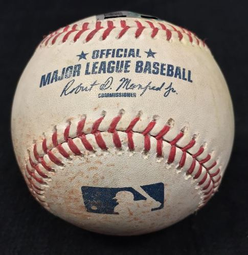 Photo of Game Used Baseball from Pirates vs. Cubs on 5/4/2016 - Lester to Harrison, Single