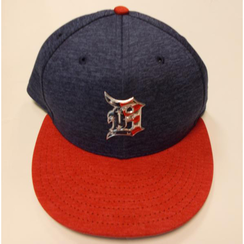 Photo of Game-Used Daniel Norris Stars and Stripes Cap