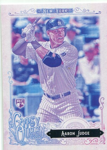 Photo of 2017 Topps Gypsy Queen Missing Blackplate #168A Aaron Judge -- ALDS roster