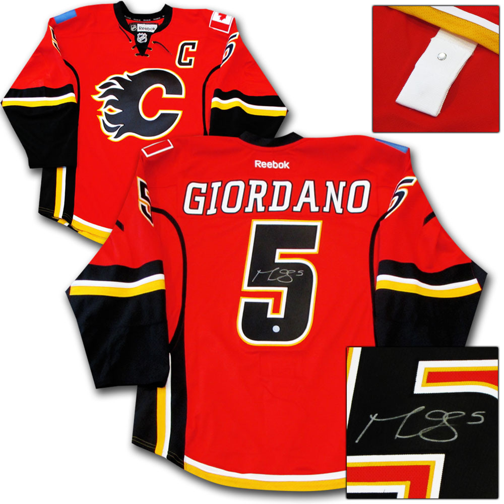 Mark Giordano Autographed Calgary Flames Authentic Pro Jersey
