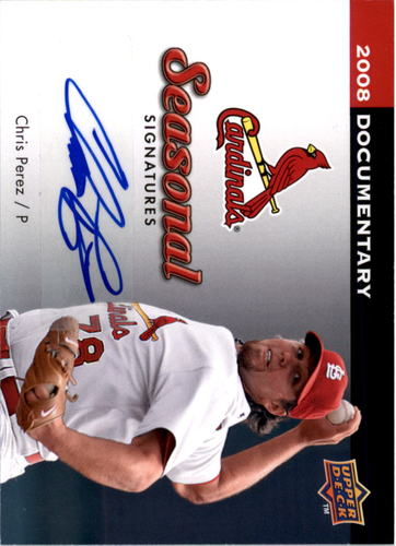 Photo of 2008 Upper Deck Documentary Seasonal Signatures #CP Chris Perez