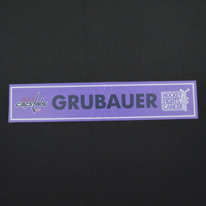 Philipp Grubauer - Washington Capitals - 2015-16 Hockey Fights Cancer Locker Room Nameplate
