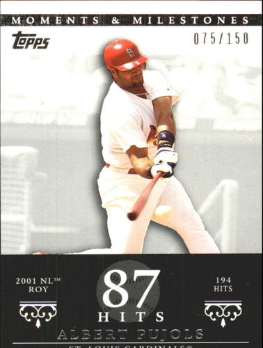 Photo of 2007 Topps Moments and Milestones #3-87 Albert Pujols/Hit 87