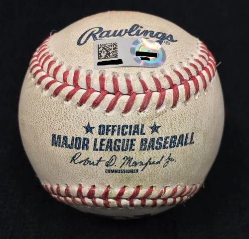 Photo of Game Used Baseball from Pirates vs. Cubs on 7/9/2016 - Kuhl to Heyward, Single