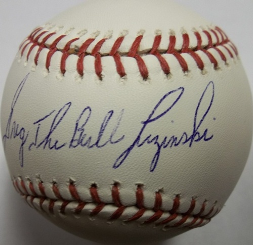 "Photo of Greg Luzinski ""Bull"" Autographed Baseball"