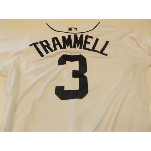 Photo of Game-Used Alan Trammell Home Jersey