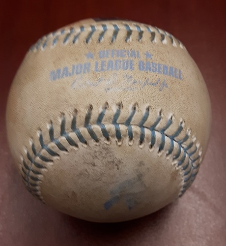 Photo of Authenticated Player Collected Father's Day Baseball - Russell Martin's 7th Home Run of the Season (June 18, 2017)