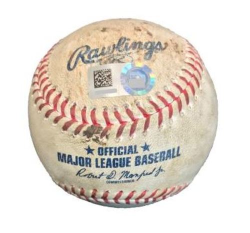 Game-Used Baseball from Pirates vs. Dodgers on 8/23/17 - Hill to Bell, Freese, Rodriguez - Bell K Looking, Freese Fly Out, Ball to Rodriguez - 10th Inning Walk-Off Home Run to End No-Hitter