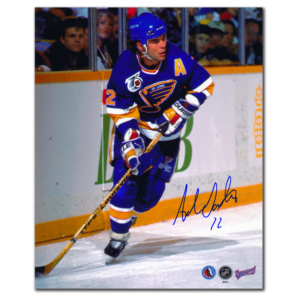 Adam Oates St. Louis Blues RUSH Autographed 8x10