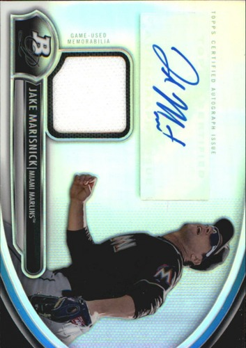 Photo of 2013 Bowman Platinum Relic Autographs #JM Jake Marisnick
