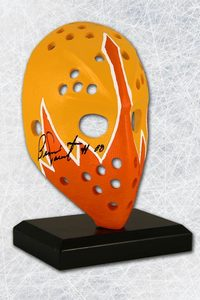 Bernie Parent Philadelphia Blazers Autographed Mini Replica WHA Goalie Mask
