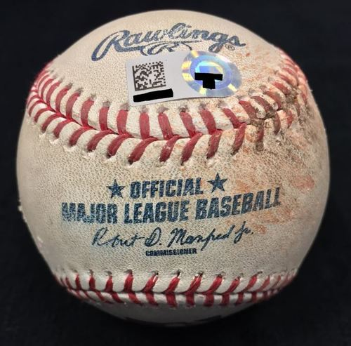 Photo of Game Used Baseball from Pirates vs. Cubs on 7/9/2016 - Patton to Kang, Pitch in the Dirt