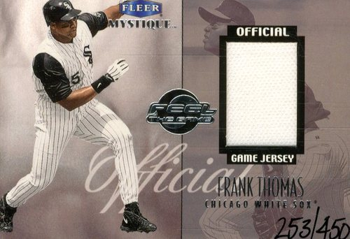Photo of 1999 Fleer Mystique Feel the Game #7 F.Thomas Jersey/450