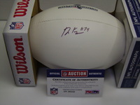 PATRIOTS - DOMINIQUE EASLEY SIGNED PANEL BALL W/ PATRIOTS CHARITABLE FOUNDATION LOGO