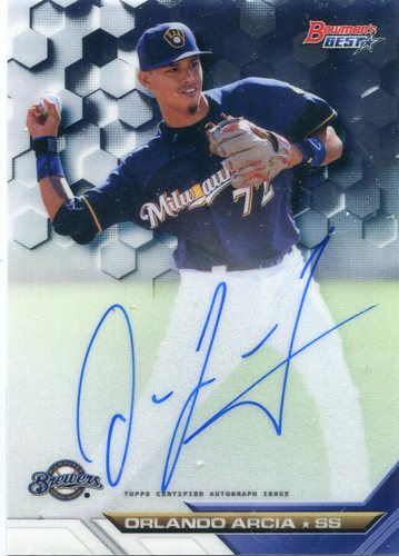 Photo of 2016 Bowman's Best Best of '16 Autographs Orlando Arcia
