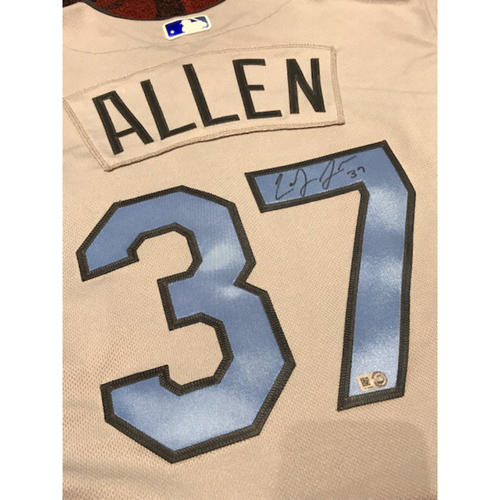 Photo of Cody Allen Autographed Father's Day Jersey