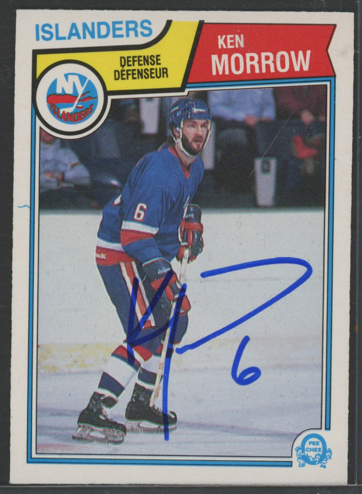 KEN MORROW New York Islanders Autographed Hockey Card