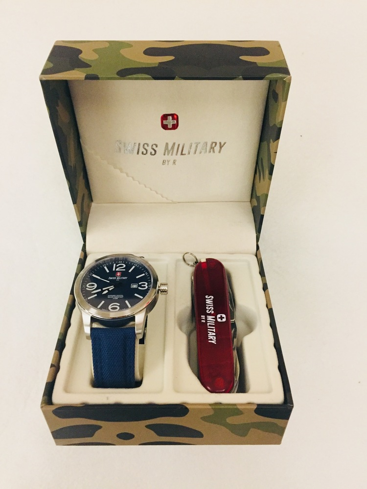 Men's Swiss Military Watch with Pocket Knife for Easter Seals Ontario