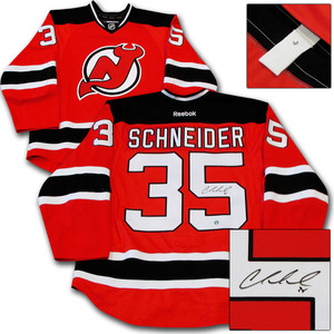 Cory Schneider Autographed New Jersey Devils Authentic Pro Jersey
